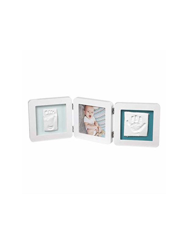 Porta Foto doppio My Baby Touch white con Kit Impronta - BABY ART - Accessori cameretta