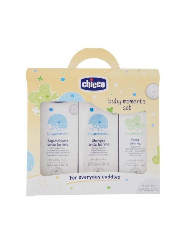 Set Trial Baby Moments 1 Bagnoschiuma-Shampoo-Pasta - CHICCO - Cura e cosmesi bambino