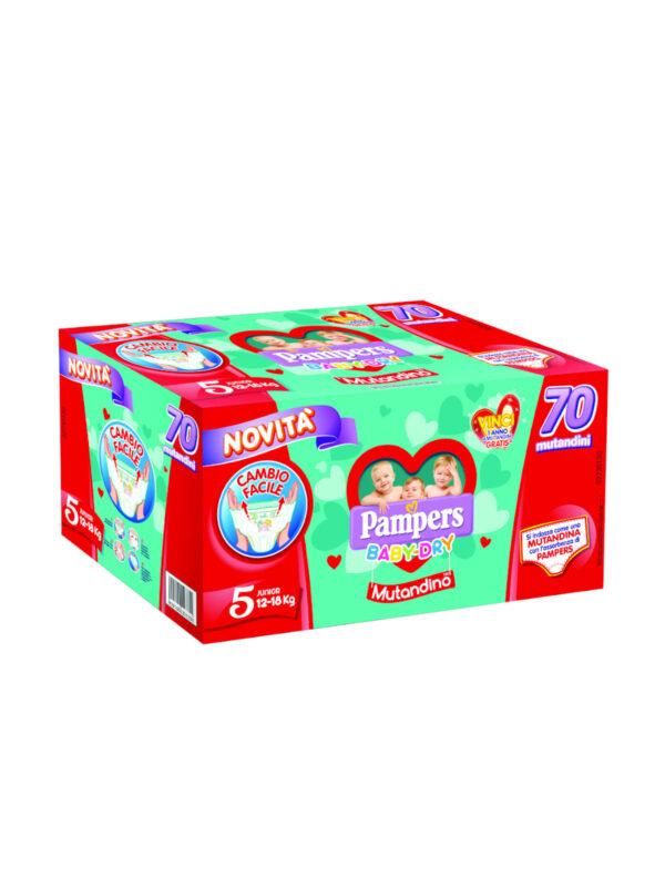 Pampers  Special Pack Baby Dry Mutandino Junior Taglia 5 (12-18 Kg) - 70 pz - Pampers