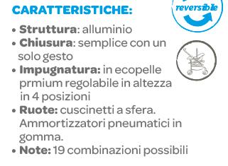 Chicco - Passeggino Fully Twin Power Stone - CHICCO - Chicco