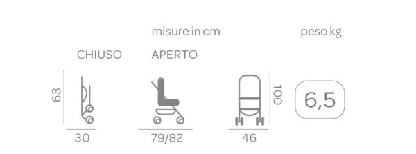 Passeggino Boarding Denim - FOPPAPEDRETTI - Foppapedretti