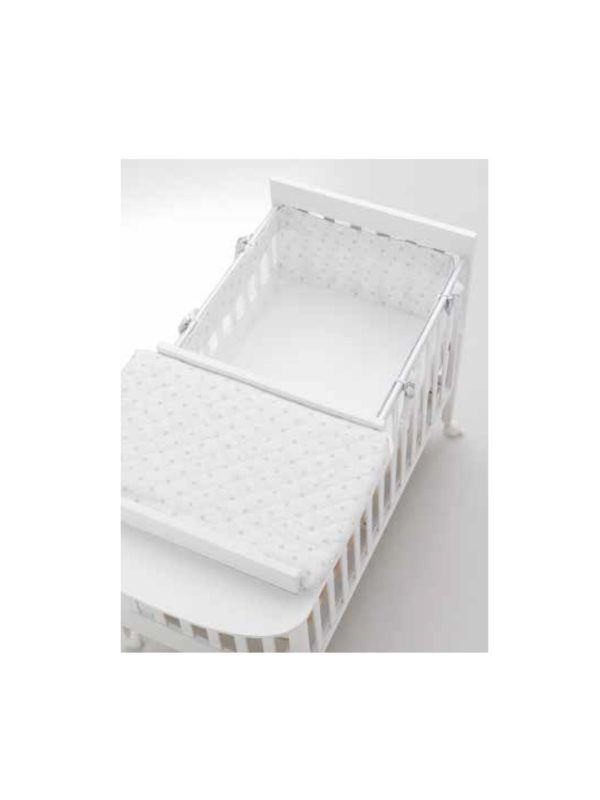 Materassino riduttore culla HOMI bianco/grigio - AZZURRA DESIGN - Cuscini e accessori lettini