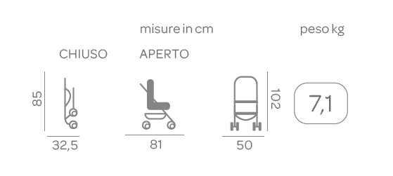 Passeggino Simplicity Top Grey - CHICCO - Chicco