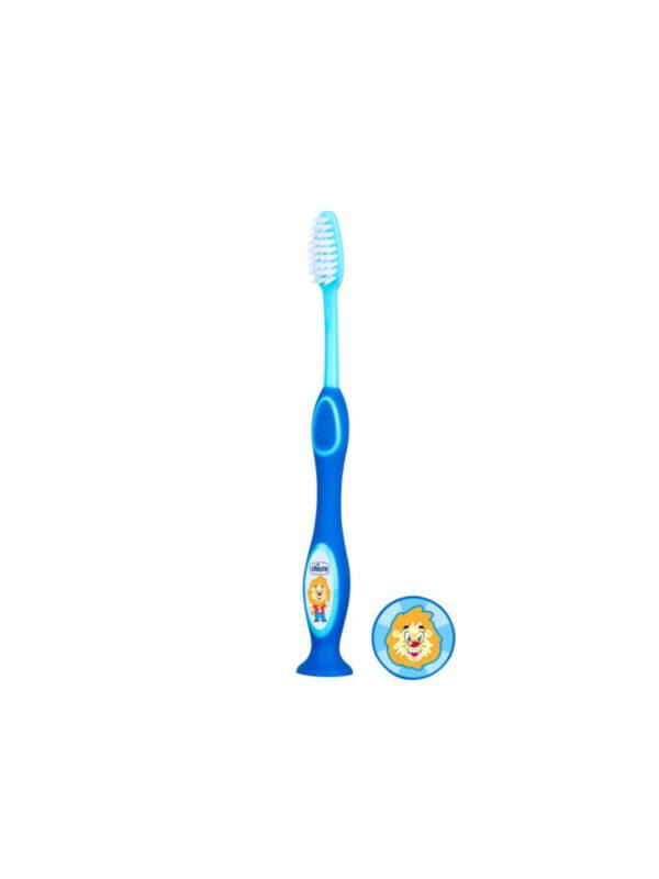 Chicco Spazzolino 3-6 anni Azzurro - CHICCO - Cura e cosmesi bambino
