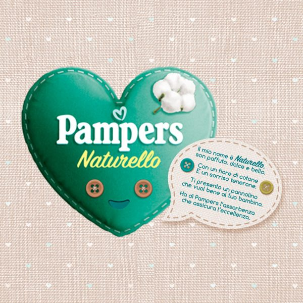 Pampers Naturello 0% profumo, Taglia 4 (7-18 kg) - 19 pz - Pampers