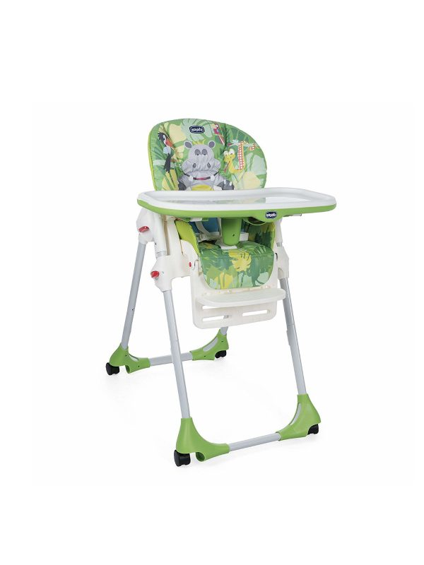 Chicco Seggiolone Polly Easy Happy Jungle  - 4 ruote - CHICCO - Seggioloni pappa
