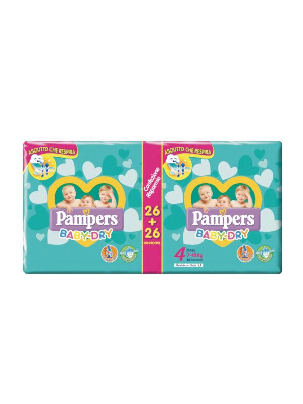 Pampers Baby Dry Maxi Taglia 4 (7-18 kg) - 46 pz - Pampers - Taglia 4 (7-18 kg)