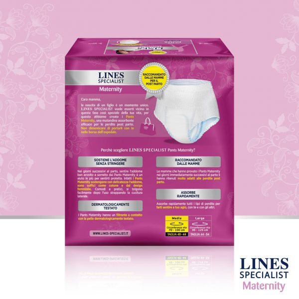 Lines Specialist Mutandine Assorbenti Post Parto Misura Large - 10 pz - Lines - Cura e cosmesi mamma