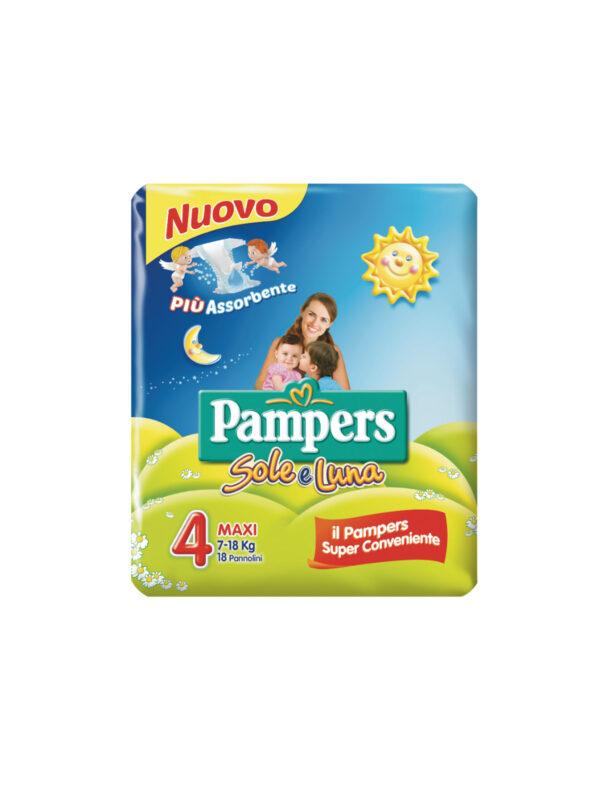 Pampers Sole e Luna Pannolini Maxi Taglia 4 (7-18 kg) - 18 pz - Pampers