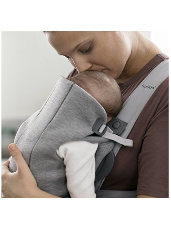 BabyBjörn Marsupio baby carrier Mini Light Grey 3D Jersey - BABYBJÖRN - Marsupi, fasce e zaini