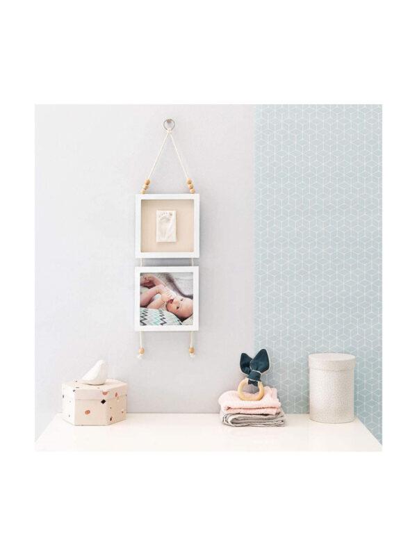 Set 2 cornici Hanging Frame con calco da appendere - BABY ART - Accessori cameretta