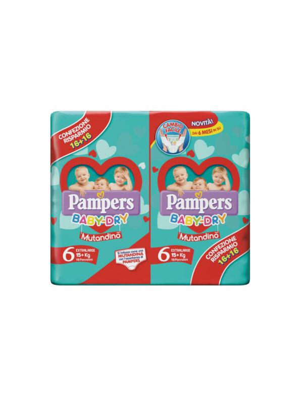 Pampers Baby Dry Mutandino XL Taglia 6 (15+ Kg) - 32 pz - Pampers - Pannolini