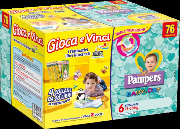 Pampers Quadri Baby Dry Taglia 6 (15-30 kg) - 76 pz - Pampers - Pannolini