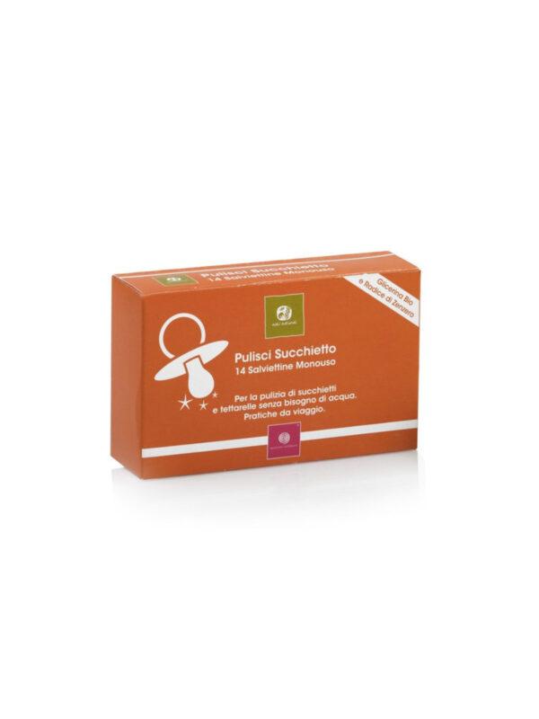 Nati Naturali Salviettine igienizzante pulisci succhietto Nati Naturale 14 pezzi - NATI NATURALI - Cura e cosmesi