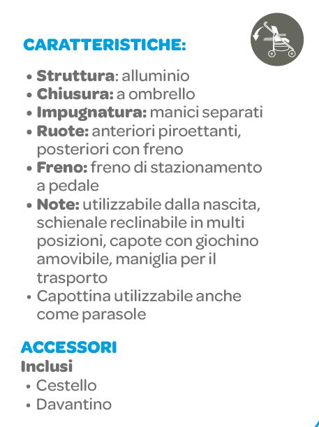 Passeggino Hurrà Trendy Blue - FOPPAPEDRETTI - Foppapedretti