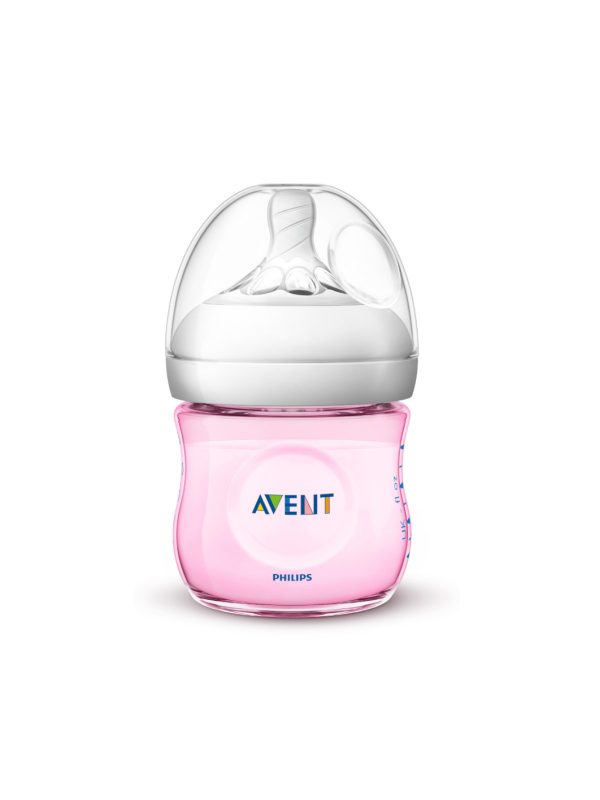 Philips Avent Biberon Natural anti-colica 125ml rosa - PHILIPS AVENT - Biberon e tettarelle