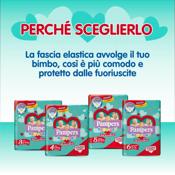 Pampers Baby Dry Mutandino Midi Taglia 3 (6-11 Kg) - 52 pz - Pampers