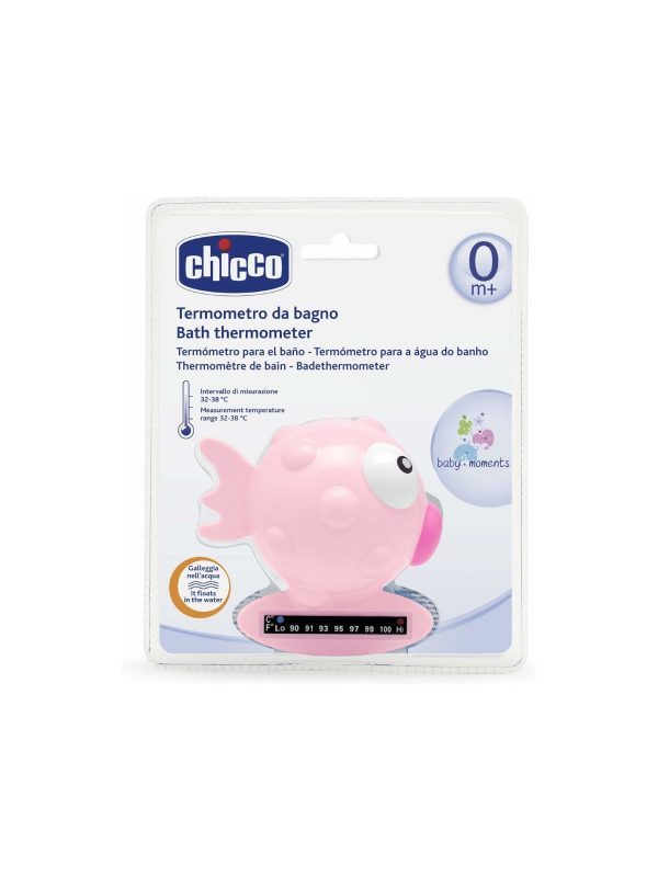 Termometro da bagno pesce palla Rosa - CHICCO - Bilance e termometri