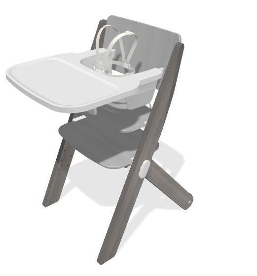 Seggiolone - sedia evolutiva Babà grigio - FOPPAPEDRETTI - Seggioloni e Alzasedia