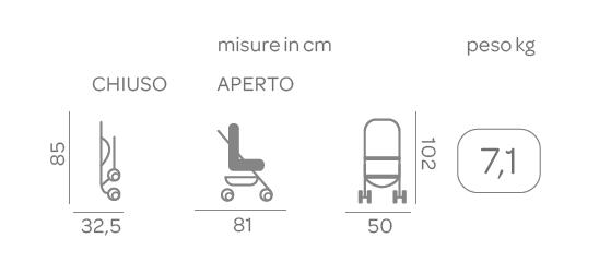 Passeggino Simplicity Top Scarlet - CHICCO - Chicco