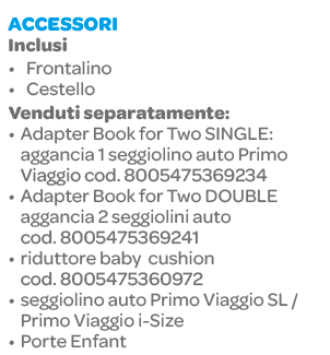 Peg Perego - Passeggino gemellare Book for Two Indigo - PEG PEREGO - Peg Perego