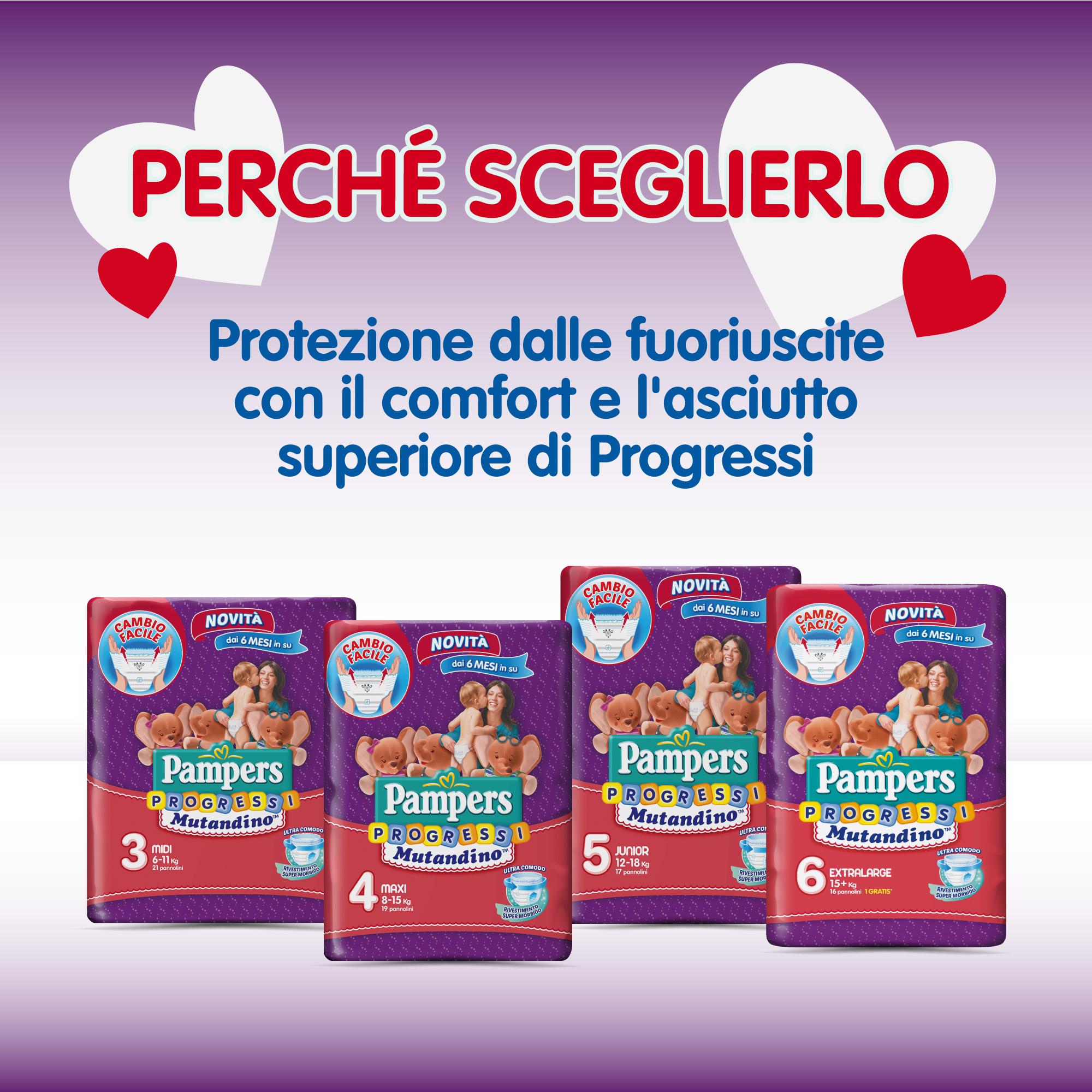 12-18 Kg 976185-Pampers Progressi Mutandino Junior Taglia 5 68 Pannolini