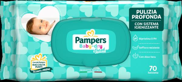 Pampers Baby Fresh Salviettine - 70 pz - Pampers