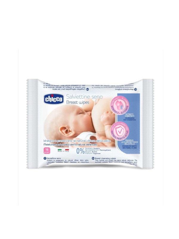 Salviette detergente seno - 16 pz - CHICCO - Cura e cosmesi mamma
