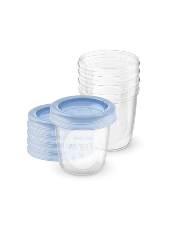 Philips Avent 5 Vasetti da 180ml per la conservazione di latte e pappe - PHILIPS AVENT - Scaldabiberon e preparazione pappa
