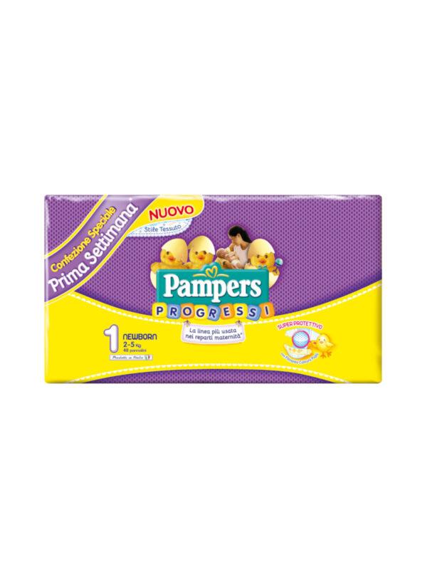 Pampers Progressi Newborn Taglia 1 (2-5 kg) - 48 pz - Pampers - Taglia 1 (2-5 kg)