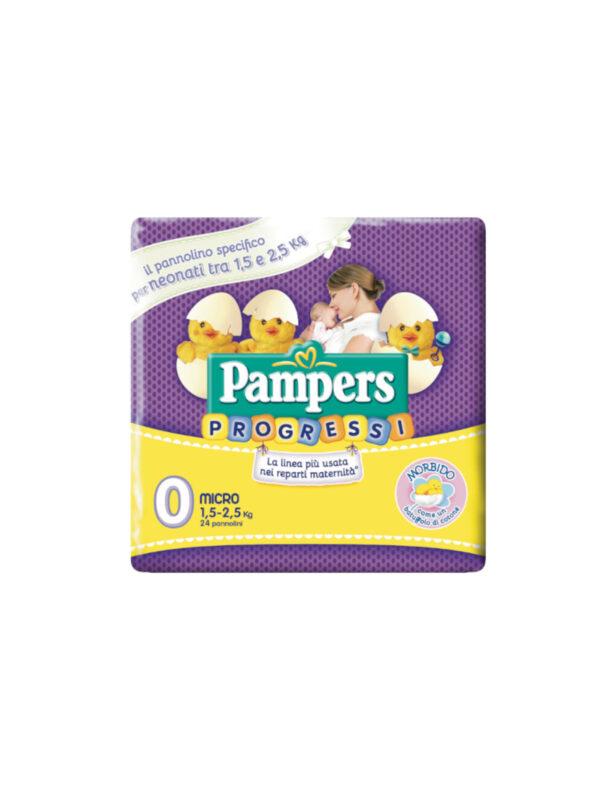 Pampers Progressi Micro Taglia 0 (1-2.5 kg) - 24 pz - Pampers