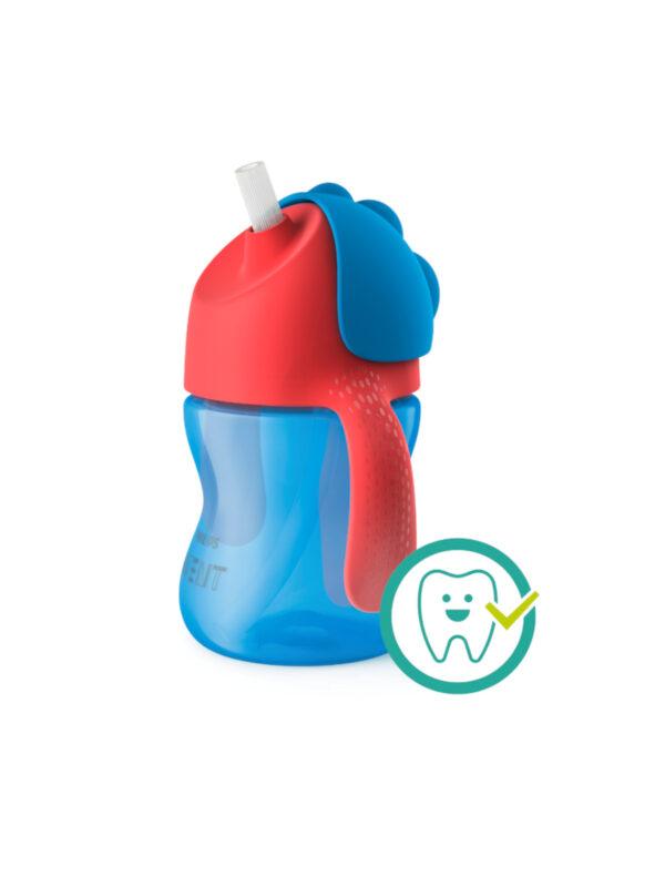Philips Avent tazza con cannuccia 200ml rossa/azzurra - PHILIPS AVENT - Piatti e Set Pappa