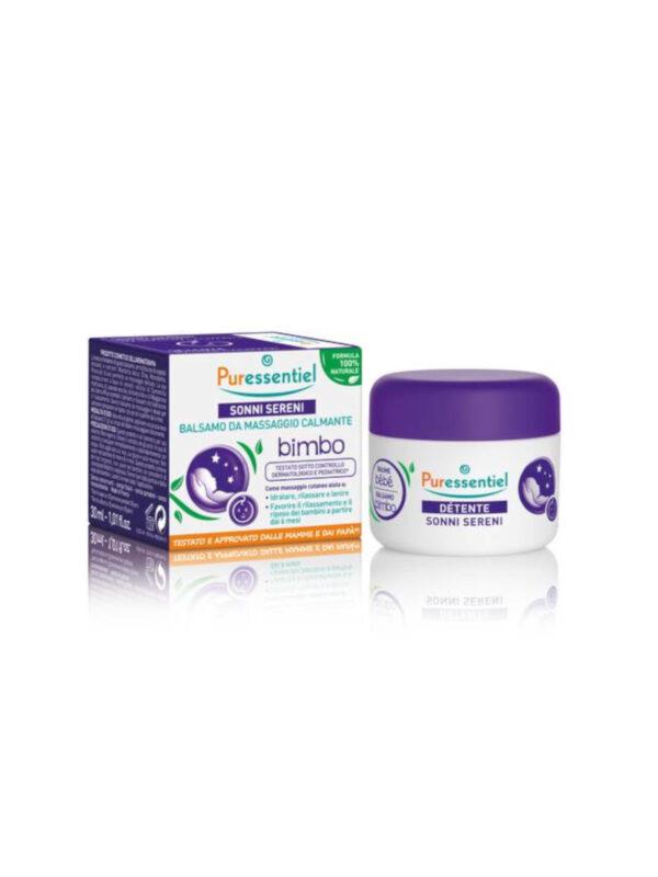 Puressentiel  Balsamo Massaggio Sonni Sereni bimbo 30 ml - PURESSENTIEL - Cura e cosmesi bambino