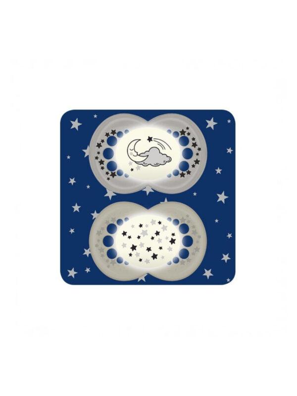 Succhietti Night Skin Soft 16m+ silicone <strong>Colori assortiti</strong> - MAM