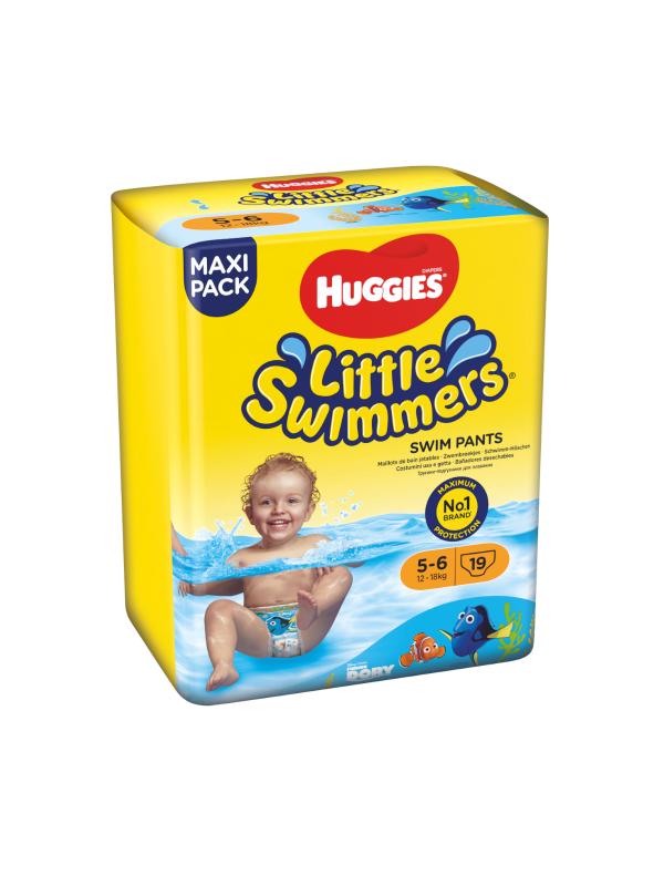 Huggies Little Swimmers Taglia 5-6 (12-18 kg) - 19 pz - HUGGIES - Taglia 5 (11-25 kg)