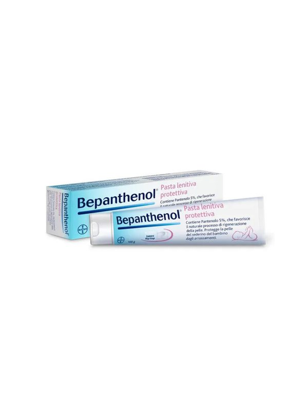 Bepanthenol Pasta Lenitiva Protettiva - Crema Cambio Pannolino Anti Arrossamento Neonato - 100 g - BEPANTHENOL - Cura e cosmesi bambino
