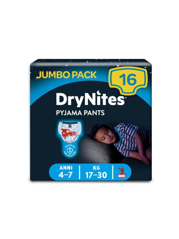 Huggies DryNites- Mutandine Assorbenti per la Notte 4-7 anni (17-30 kg) - 16 pz - HUGGIES - Taglia 6 (15-30 Kg)