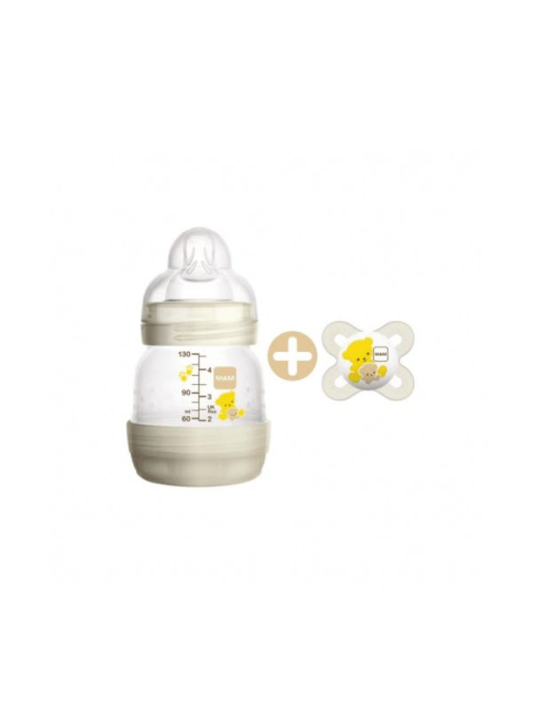 Biberon Easy Start 130 ml EASY + succhietto Start Nanò 2m - MAM - Biberon e tettarelle