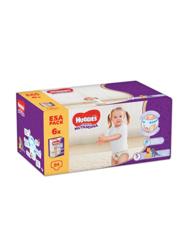 Huggies Pannolino Mutandina Esa Pack Taglia 5 (12-17 kg) - 84 pz - HUGGIES - Taglia 5 (11-25 kg)