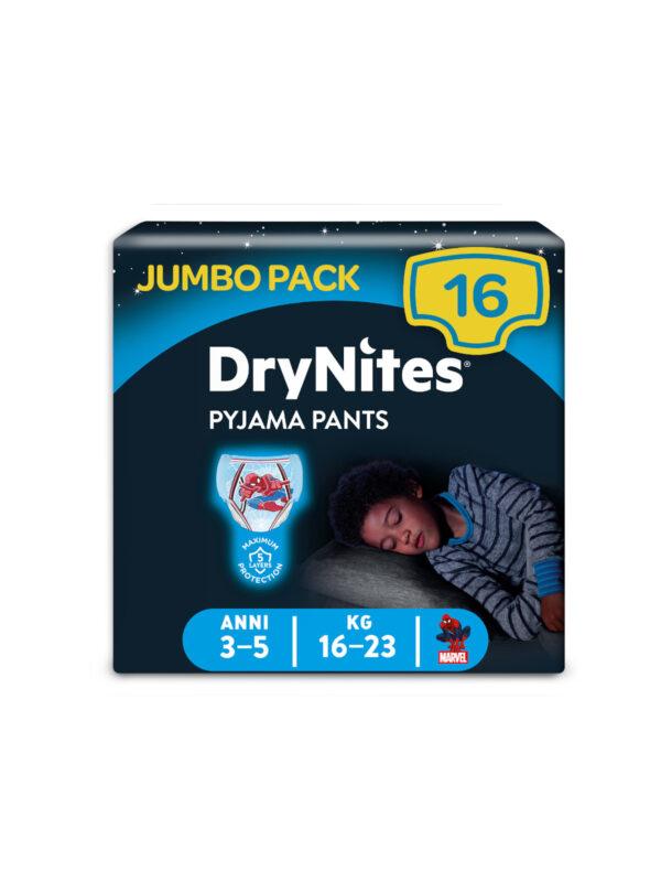 Huggies DryNites Mutandine Assorbenti per la Notte 3-5 anni (16-23 kg) - 16 pz - HUGGIES - Taglia 6 (15-30 Kg)