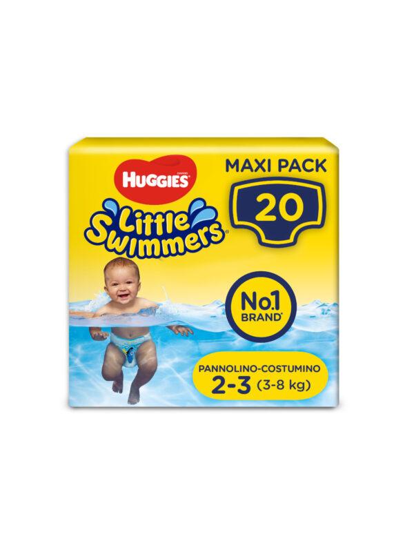 Huggies Little Swimmers Taglia 2-3 (3-8 kg) - 20 pz - HUGGIES - Taglia 2 (3-6 kg)