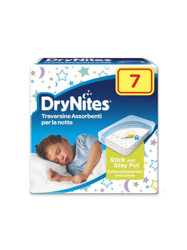 Huggies DryNites Bed Mats Traversine assorbenti proteggi materasso 7 pz - HUGGIES - Accessori Bagno e Igiene