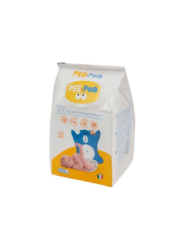 Pee&Poo Salviettine 200 pz - PEE & POO - Accessori Cambio