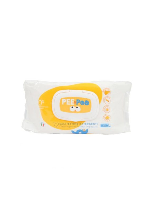 Pee&Poo Salviette detergenti 72 pz con placchetta - PEE & POO - Accessori Cambio