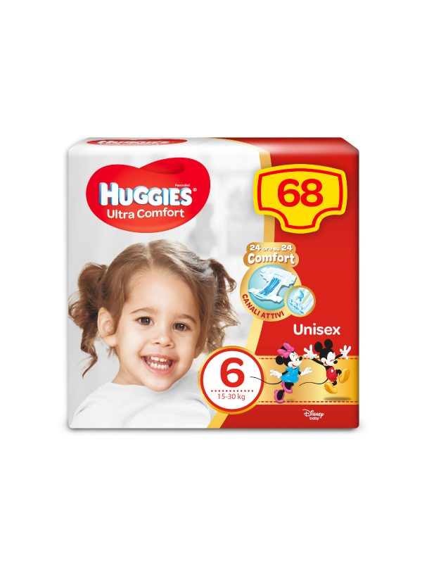 Huggies Ultra Comfort Duopack Taglia 6 - 68 pz - HUGGIES - Taglia 6 (15-30 Kg)