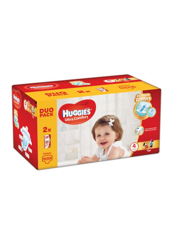 Huggies Ultra Comfort Duo Pack Taglia 4 (7-18 kg) - 100 pz - HUGGIES - Taglia 4 (7-18 kg)