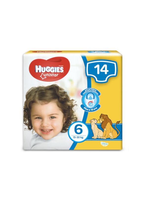 Huggies UNISTAR - Pannolini Taglia 6 (15-30 Kg) - Confezione da 14 pz - HUGGIES