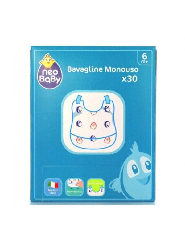 Bavagline monouso - 30 pz - NEOBABY - Bavaglini