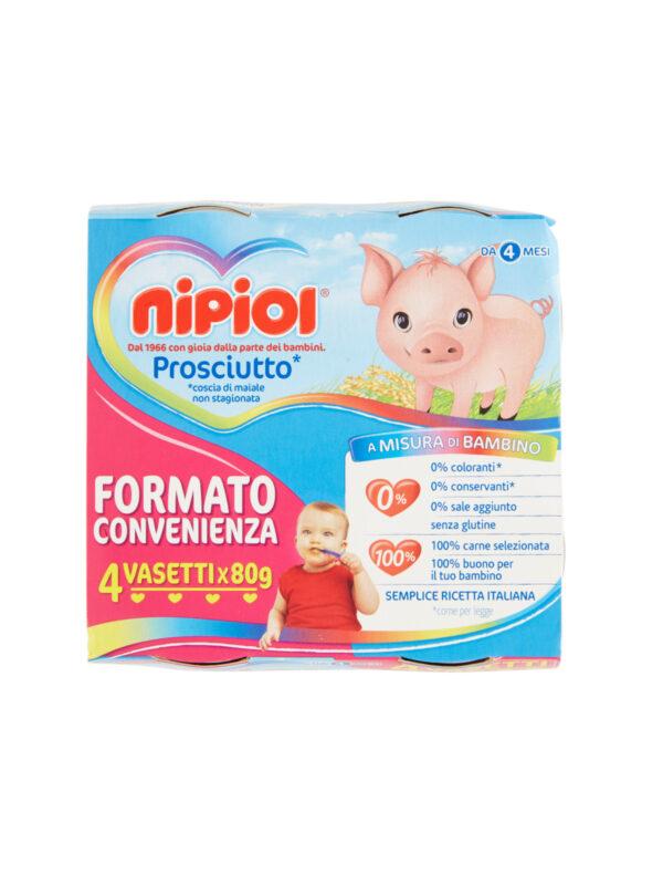 Nipiol - Omogeneizzato Prosciutto - 4x80g - Nipiol - Omogeneizzato carne