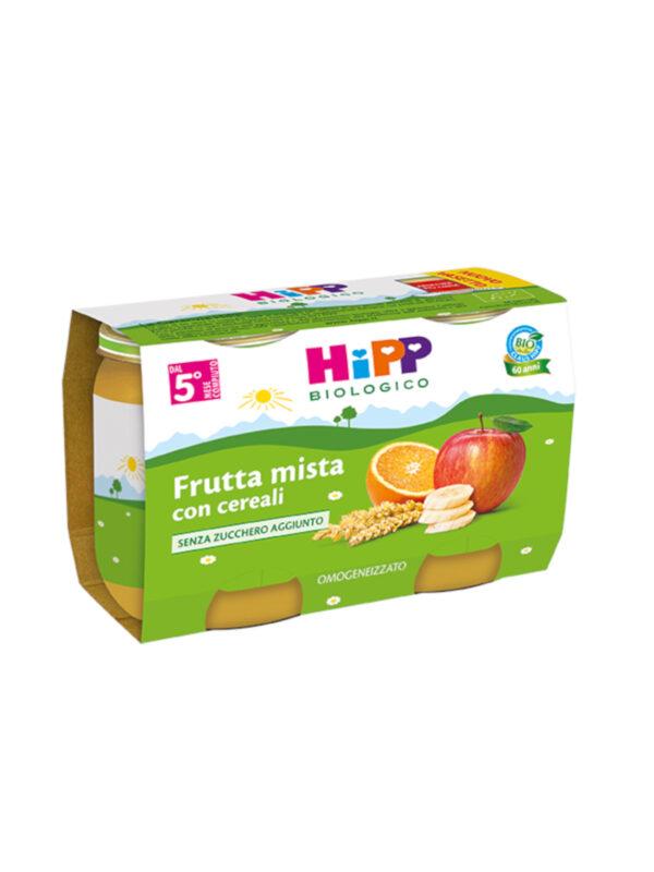 Omogeneizzato Frutta mista con cereali 2x125g - HiPP - Omogeneizzato frutta